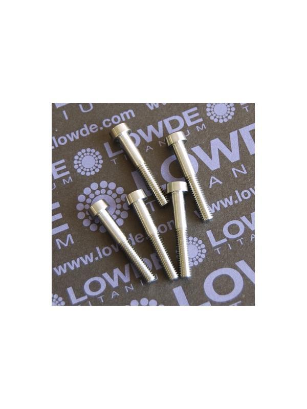 5 Screws LN 29950 M4x26 titanio gr. 5 (6Al4V) - 5 Items LN 29950 04 26 B M4x26 de titanio gr. 5 (6Al4V) Fabricado bajo normativa aeroespacial.