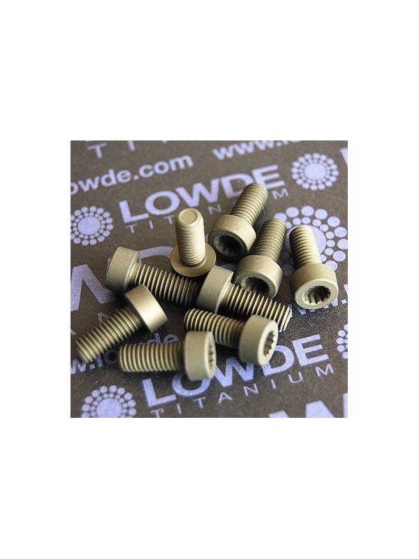 70 Screws LN 29950 M5x12 titanio gr. 5 (6Al4V) - 70 Items LN 29950 05 12 B M5x12 mm. titanio gr. 5 (6Al4V) AMS 4928. Fabricado bajo normativa aeroespacial. Certificados de calidad incluidos.