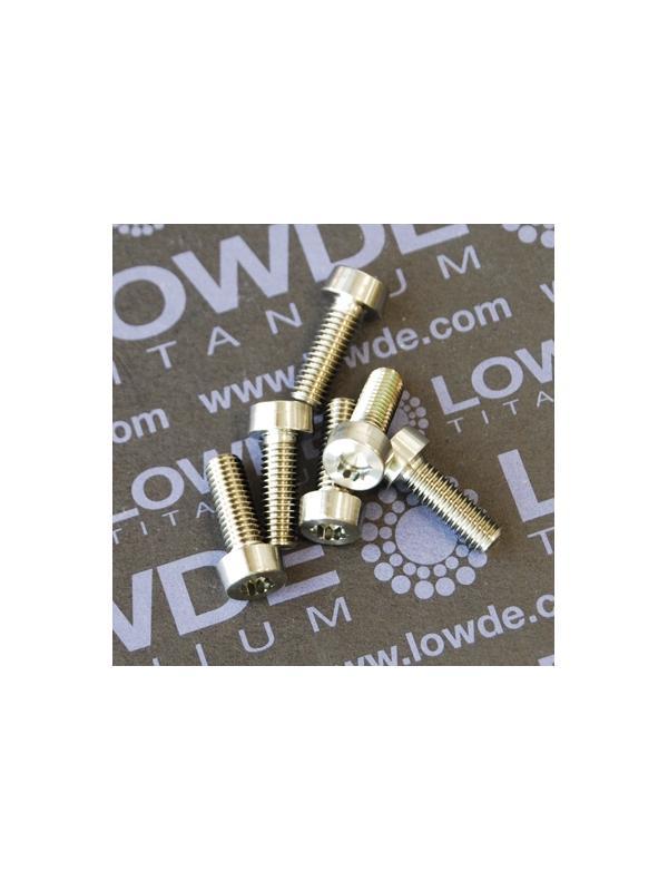 24 Screws LN 29950 M5x14 titanio gr. 5 (6Al4V) - 24 Items LN 29950 05 14 B M5x14 mm. titanio gr. 5 (6Al4V) AMS 4928. Fabricado bajo normativa aeroespacial.