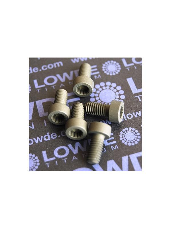 50 Screws LN 29950 M6x12 titanio gr. 5 (6Al4V) - 50 Items LN 29950 J 06 12 B M6x12 titanio gr. 5 (6Al4V) AMS 4928. Fabricado bajo normativa aeroespacial. Certificados de calidad incluidos.