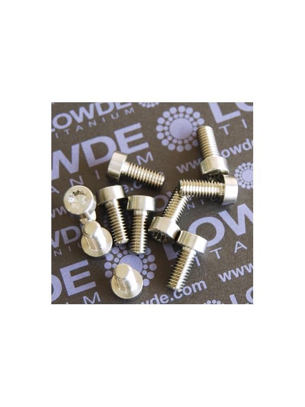 9 Screws LN 29950 M6x14 titanio gr. 5 (6Al4V) - 9 Items LN 29950 J06 14 B M6x14 mm. titanio gr. 5 (6Al4V) AMS 4928. Fabricado bajo normativa aeroespacial. Certificados de calidad incluidos.