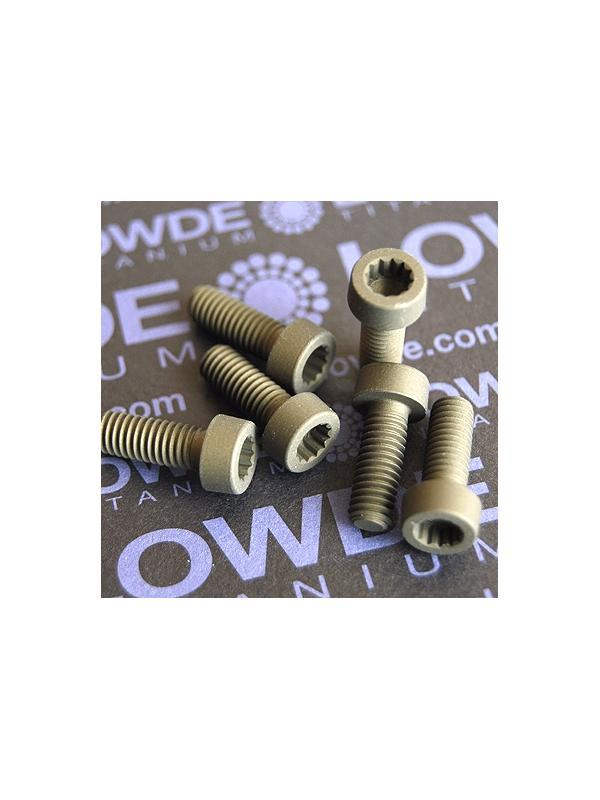 20 Screws LN 29950 M6x16 titanio gr. 5 (6Al4V) - 20 Items LN 29950 06 16 B M6x16 mm. titanio gr. 5 (6Al4V) AMS 4928. Fabricado bajo normativa aeroespacial. Certificados de calidad incluidos.