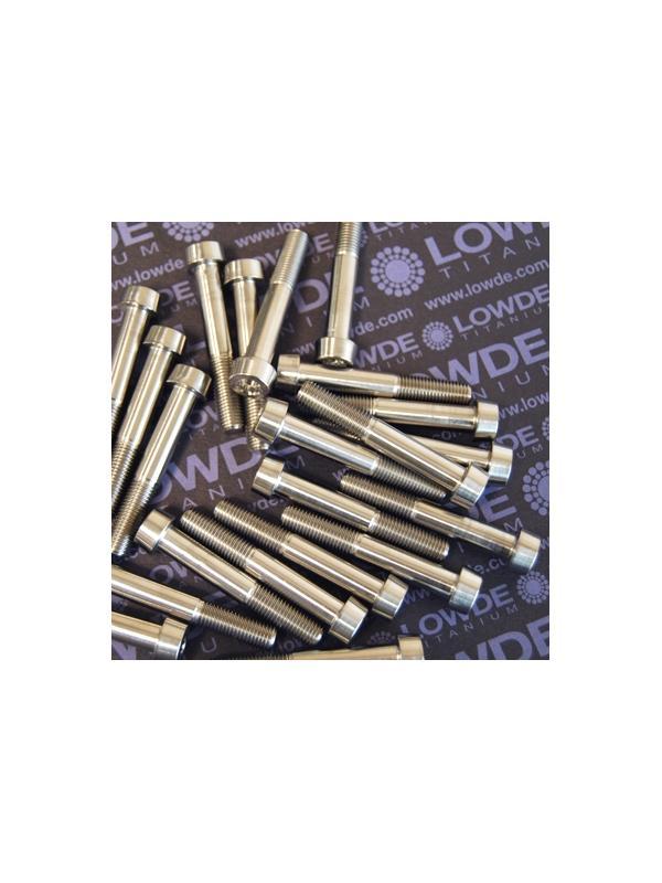 LN 29950 M8x100x50 titanio gr. 5 (6Al4V) - 250 Items LN 299500850B M8xx1,00x50 mm. titanio gr. 5 (6Al4V).