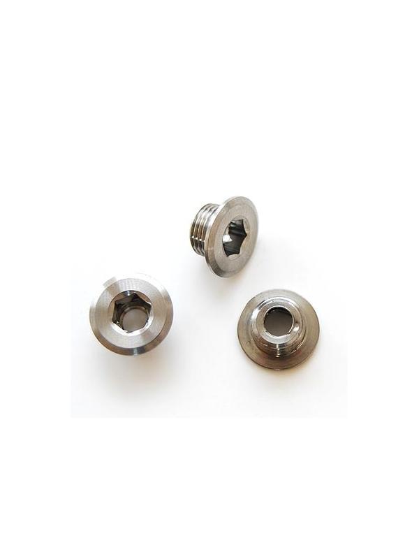 Tornillo (ud.) M8x0,75x5 mm. Titanio gr. 5 PLATO BICICLETA - Tornillo M8x0,75x5 mm. Titanio gr. 5 para uso en PLATOS BICICLETA