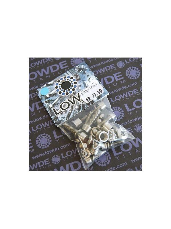 SCOTT CR1. Kit de 16 tornillos + 10 arandelas de TITANIO gr. 5 (6Al4V) - SCOTT CR1. Kit de 16 tornillos + 10 arandelas de TITANIO gr. 5 (6Al4V)