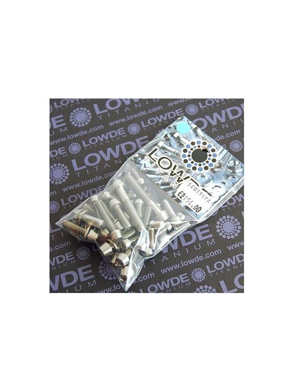 SCOTT SPARK LIMITED. Kit de 40 tornillos + 15 arandelas de TITANIO gr. 5 (6Al4V) - SCOTT SPARK LIMITED. Kit de 40 tornillos + 15 arandelas de TITANIO gr. 5 (6Al4V)