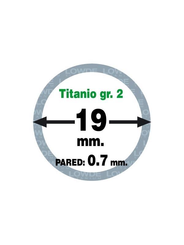 Tubo 1 metro de TITANIO gr. 2 ASTM B338 en diámetro 19 mm. Grosor pared: 0,7 mm. - Tubo 1 metro de TITANIO gr. 2 ASTM B338 en diámetro 19 mm. Grosor pared: 0,7 mm.