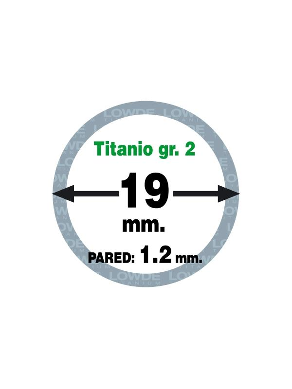Tubo 1 metro de TITANIO gr. 2 ASTM B338 en diámetro 19 mm. Grosor pared: 1,2 mm. - Tubo 1 metro de TITANIO gr. 2 ASTM B338 en diámetro 19 mm. Grosor pared: 1,5 mm.
