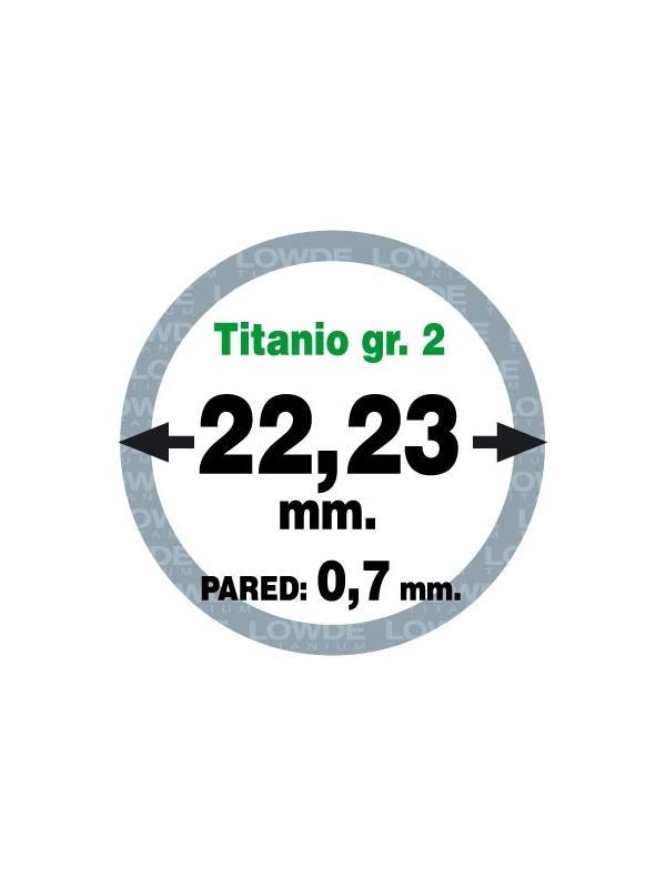 Tubo 1 metro de TITANIO gr. 2 ASTM B338 en diámetro 22,23 mm. Grosor pared: 0,7 mm. - Tubo 1 metro de TITANIO gr. 2 ASTM B338 en diámetro 22,23 mm. Grosor pared: 0,7 mm.