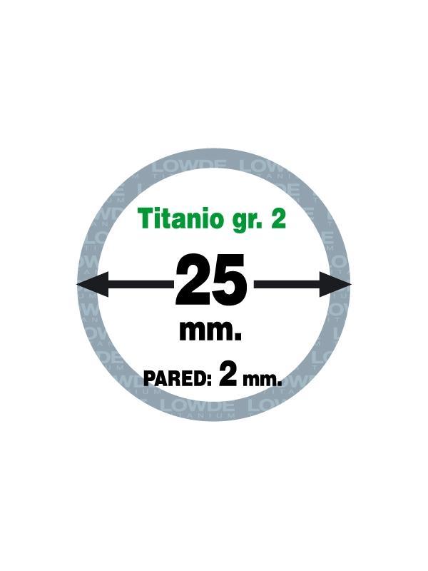 Tubo 1 metro de TITANIO gr. 2 ASTM B338 en diámetro 25 mm. Grosor pared: 2 mm. - Tubo 1 metro de TITANIO gr. 2 ASTM B338 en diámetro 25 mm. Grosor pared: 2 mm.