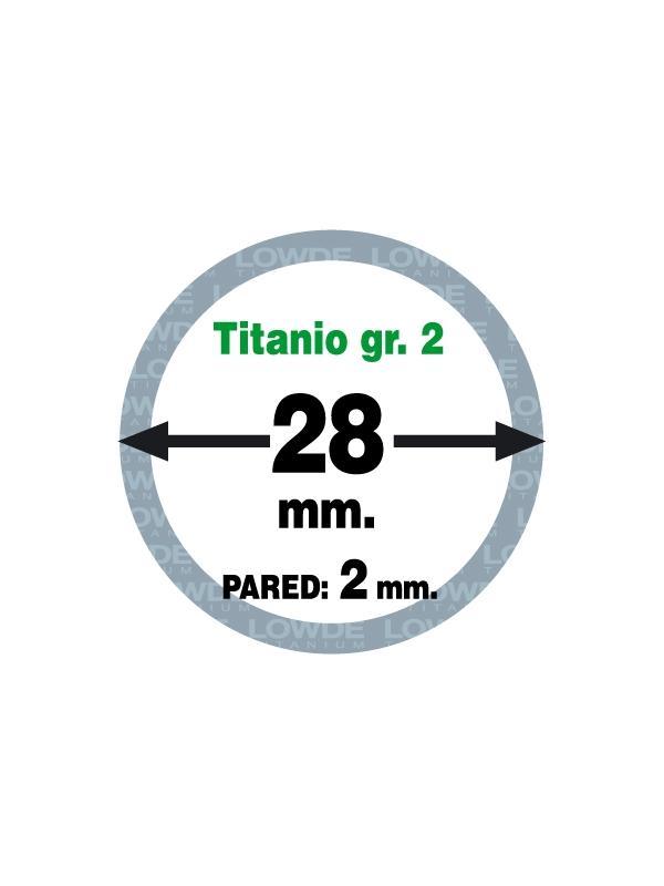 Tubo 1 metro de TITANIO gr. 2 ASTM B338 en diámetro 28 mm. Grosor pared: 2 mm. - Tubo 1 metro de TITANIO gr. 2 ASTM B338 en diámetro 28 mm. Grosor pared: 2 mm.