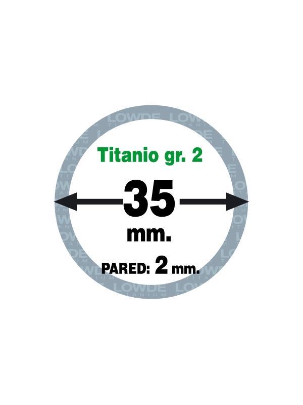 Tubo 1 metro de TITANIO gr. 2 ASTM B338 en diámetro 35 mm. Grosor pared: 2 mm. - Tubo 1 metro de TITANIO gr. 2 ASTM B338 en diámetro 35 mm. Grosor pared: 2 mm.