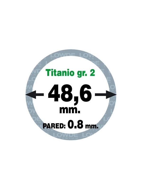 Tubo 1 metro de TITANIO gr. 2 ASTM B338 en diámetro 48,6 mm. Grosor pared: 0,8 mm. - Tubo 1 metro de TITANIO gr. 2 ASTM B338 en diámetro 48,6 mm. Grosor pared: 0,8 mm.