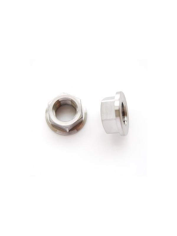 Tuerca DIN 6923 M14x1,50 de titanio gr. 5 (6Al4V). Altura tuerca: 11 mm. - Tuerca DIN 6923 M14x1,50 de titanio gr. 5 (6Al4V). Atura tuerca: 11 mm.
