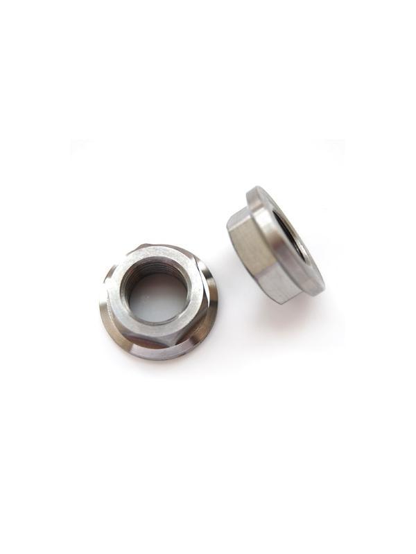 Tuerca DIN 6923 M16x1,50 de titanio gr. 5 (6Al4V). Altura tuerca: 11 mm. - Tuerca DIN 6923 M16x1,50 de titanio gr. 5 (6Al4V). Altura tuerca: 11 mm.