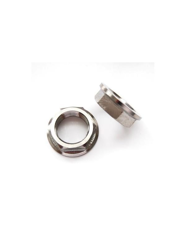 Tuerca DIN 6923 M20x1,50 de titanio gr. 5 (6Al4V). Altura tuerca: 10 mm. - Tuerca DIN 6923 M20x1,50 de titanio gr. 5 (6Al4V). Altura tuerca: 10 mm.