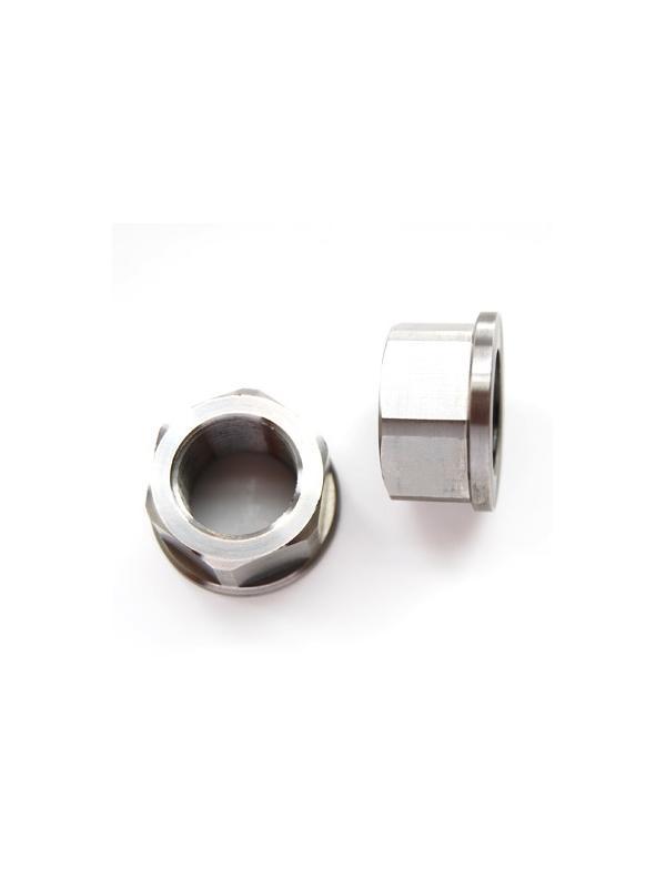 Tuerca DIN 6923 M20x1,50 de titanio gr. 5 (6Al4V). Altura tuerca: 17 mm. - Tuerca DIN 6923 M20x1,50 de titanio gr. 5 (6Al4V). Altura tuerca: 17 mm.