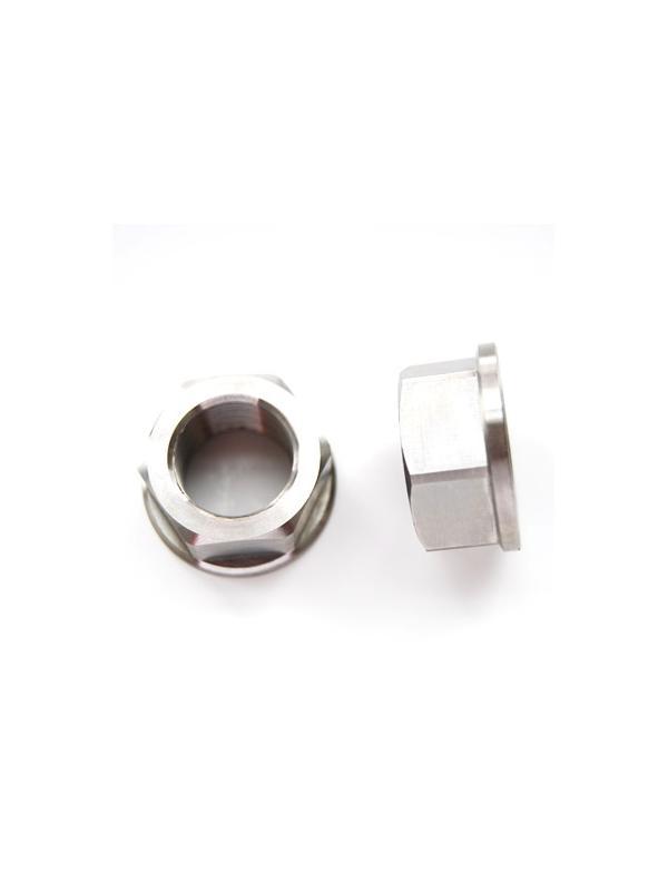 Tuerca DIN 6923 M22x1,50 de titanio gr. 5 (6Al4V). Altura tuerca: 17 mm. - Tuerca DIN 6923 M22x1,50 de titanio gr. 5 (6Al4V). Altura tuerca: 17 mm.