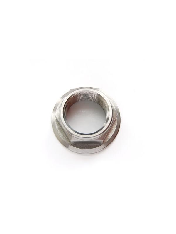 Tuerca DIN 6923 M24x1,50 de titanio gr. 5 (6Al4V). Altura tuerca: 17 mm. - Tuerca DIN 6923 M24x1,50 de titanio gr. 5 (6Al4V). Altura tuerca: 17 mm.