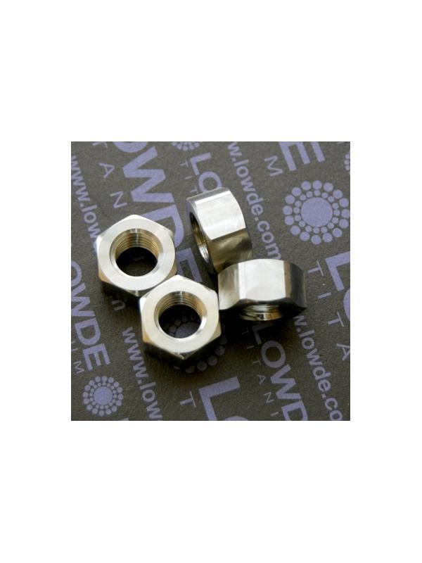 Tuerca DIN 934 M12x1,75 de titanio gr. 5 (6Al4V). - Tuerca DIN 934 M12x1,75 de titanio gr. 5 (6Al4V).