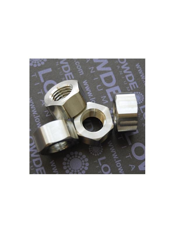 Tuerca DIN 934 M16x2,00 de titanio gr. 5 (6Al4V) - Tuerca DIN 934 M16x2,00 de titanio gr. 5 (6Al4V)