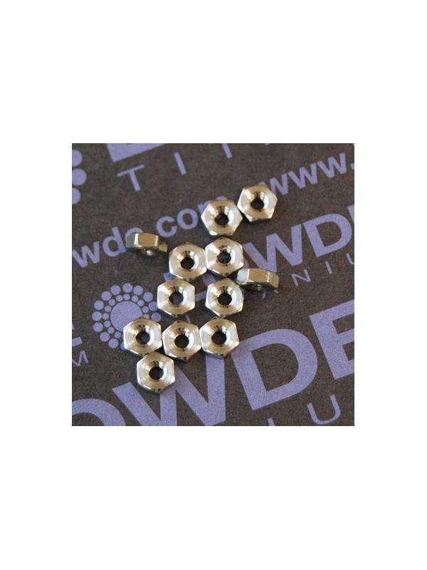 Tuerca DIN 934 M2.5 de titanio gr. 5 (6Al4V) - Tuerca DIN 934 M2.5 de titanio gr. 5 (6Al4V)