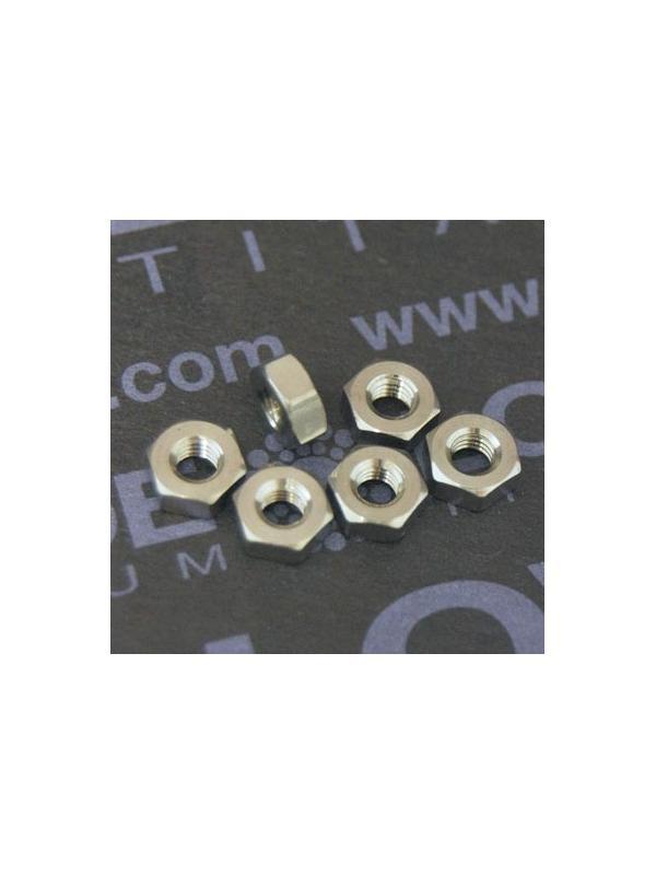 Tuerca DIN 934 M3 de titanio gr. 5 (6Al4V) - Tuerca DIN 934 M3 de titanio gr. 5 (6Al4V)