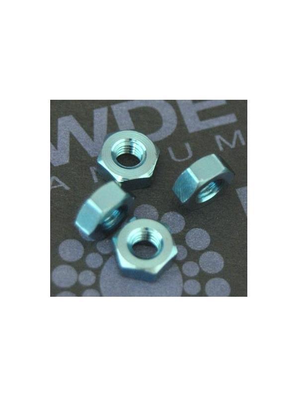 Tuerca DIN 934 M3 de titanio gr. 5 (6Al4V). Anodizada azul - Tuerca DIN 934 M3 de titanio gr. 5 (6Al4V). Anodizada azul.
