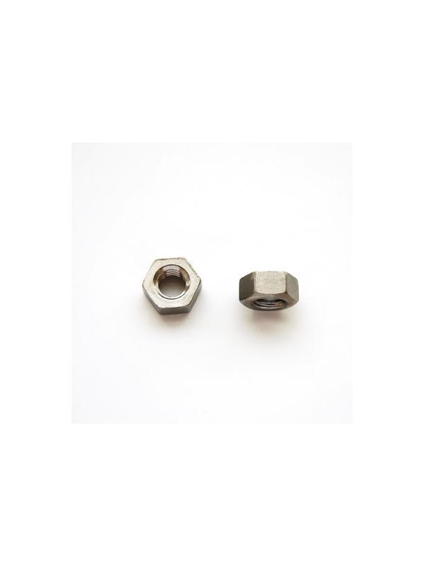 Tuerca DIN 934 M6 de titanio gr. 2 (pulida) - Tuerca DIN 934 M6 de titanio gr. 2 (pulida).