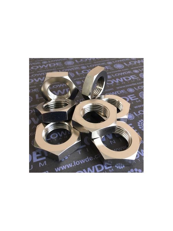 Tuerca baja DIN 936 M24x2,00 de Titanio grado 2. Hex. 36 mm. - Tuerca DIN 936 M24x2,00 de titanio gr. 2
