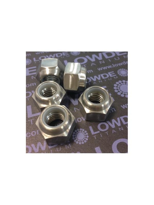 Tuerca DIN 982 M12x1,75 autoblocante de titanio gr. 5 (6Al4V) - Tuerca DIN 982 M12x1,75 autoblocante de titanio gr. 5 (6Al4V)