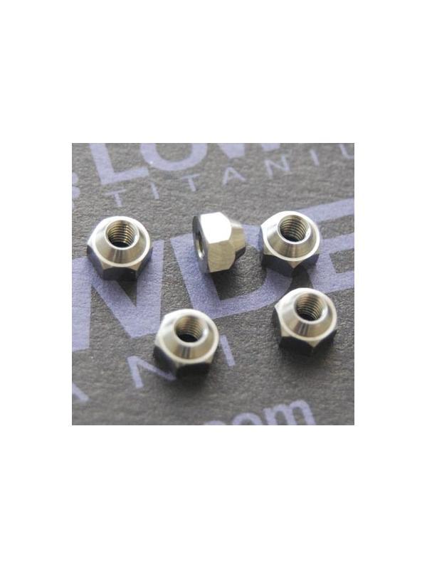 Tuerca DIN 985 M3 de titanio gr. 5 (6Al4V) - Tuerca DIN 985 M3 de titanio gr. 5 (6Al4V) (no autoblocante)