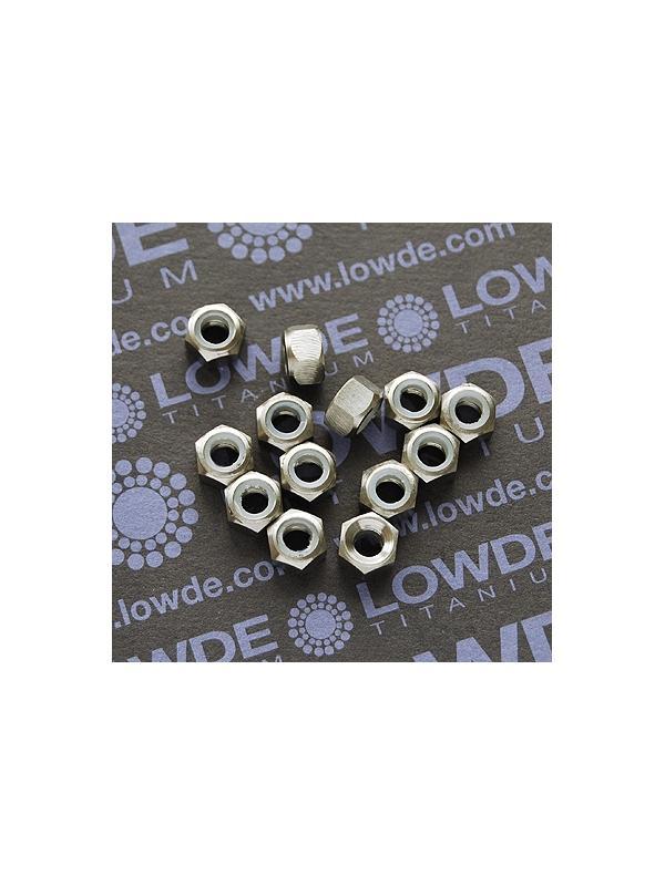 Tuerca DIN 985 M5 autoblocante de titanio gr. 5 (6Al4V) - Tuerca DIN 985 M5 autoblocante de Titanio gr. 5 (6Al4V)