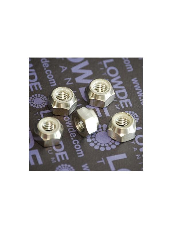 Tuerca DIN 982 M8 autoblocante de titanio gr. 5 (6Al4V) - Tuerca DIN 982 M8 autoblocante de titanio gr. 5 (6Al4V)