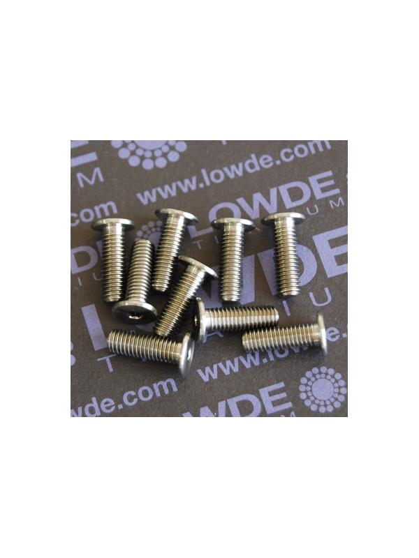 Cabeza ultrabaja M5x15 mm. de Titanio grado 5 (6Al-4V) - Cabeza ultrabaja M5x15 mm. de Titanio grado 5 (6Al-4V)
