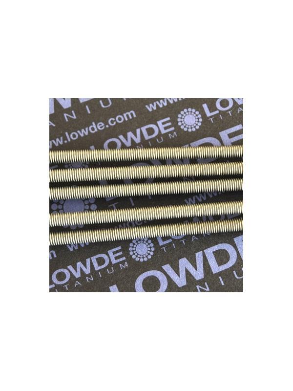 Varilla roscada M6x1,00x1000 mm. de titanio gr. 2 - Varilla roscada M6x1.000 mm. de titanio gr. 2 Paso de rosca de 1,00 (el habitual en métrica 6) Titanio gr. 2.