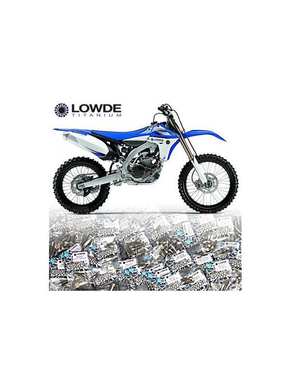 Kit completo tornillería y ejes Titanio para moto campo