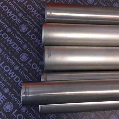 Tubo Ø34,9x0,9x1.230 mm. de TITANIO gr. 9 (3Al-2,5V) ASTM B338. CWSR