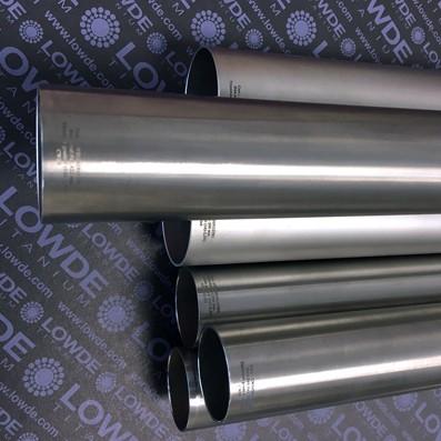 Tubo Ø41,65x0,9x1.4220 mm. de TITANIO gr. 9 (3Al-2,5V) ASTM B338. CWSR