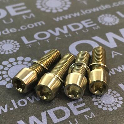 Kit 4 tornillos M5x15 llave torx de titanio gr. 5. Cabeza estrecha (Ø7 mm.) - Kit 4 tornillos M5x15 llave torx de titanio gr. 5. Cabeza estrecha (Ø7 mm.)
