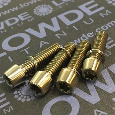 Kit 4 tornillos M5x18 llave torx de titanio gr. 5. Cabeza estrecha (Ø7 mm.) - Kit 4 tornillos M5x18 llave torx de titanio gr. 5. Cabeza estrecha (Ø7 mm.)