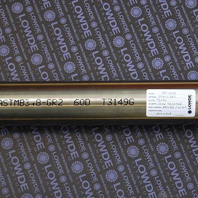 Barra de Titanio gr. 2 (puro) en diámetro 60 y longitud 500 mm. - Barra de Titanio gr. 2 (puro) en diámetro 60 y longitud 500 mm.