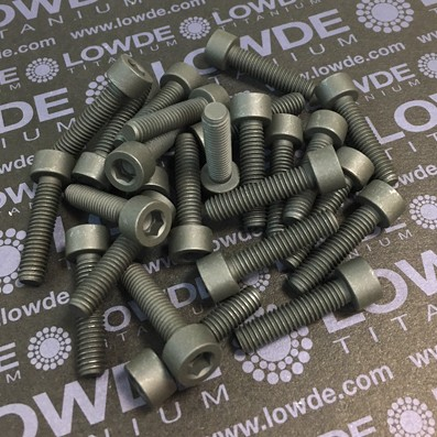 25 Screws DIN 912 M6x25 Ti gr. 5 (6Al4V) MoS2 coated. - 25 Tornillos DIN 912 M6x25 Titanio grado 5 (6Al4V) Recubiertos de grasa sólida MoS2