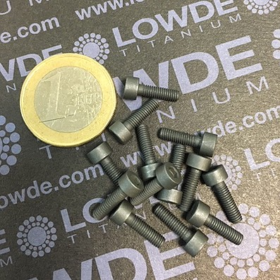 93 Screws DIN 912 M3X10 mm. Ti gr. 5 (6Al4V) MoS2 coated.