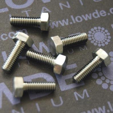 DIN 933 M4x12 mm. de titanio gr. 5 (6Al4V) ELI