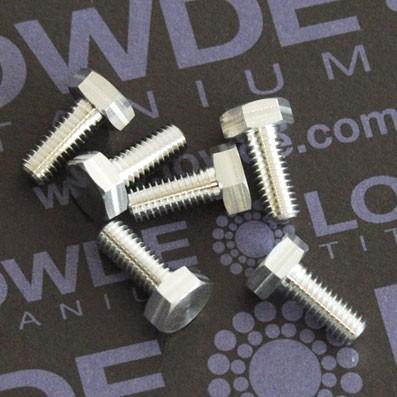 DIN 933 M4x10 de Aluminio 7075 T6