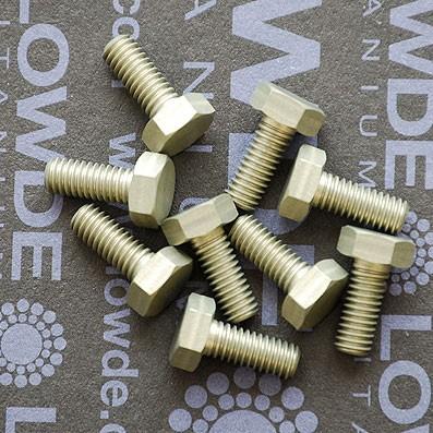 DIN 933 M4x10 de Aluminio 7075 T6 anodizado duro