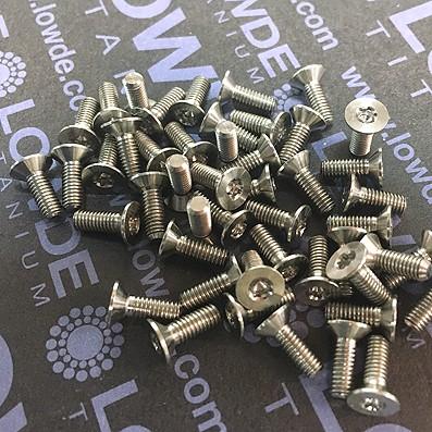 Avellanado ISO 14581 M3x8 mm. Torx T10. Titanio gr. 5