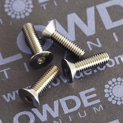 Tornillo DIN 7991 M3x14 mm. de titanio gr. 5 (6Al4V) ELI - Tornillo DIN 7991 M3x14 mm. de titanio gr. 5 (6Al4V) ELI