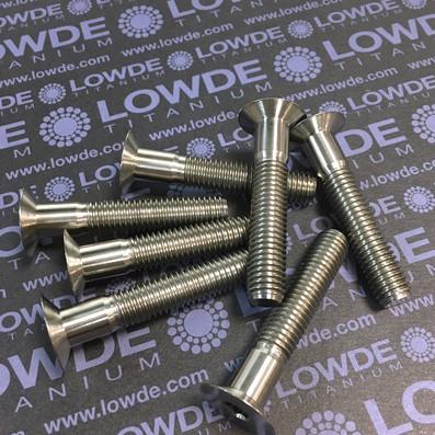 Avellanado DIN 7991 M10x55 mm. de titanio gr. 5 (6Al4V)